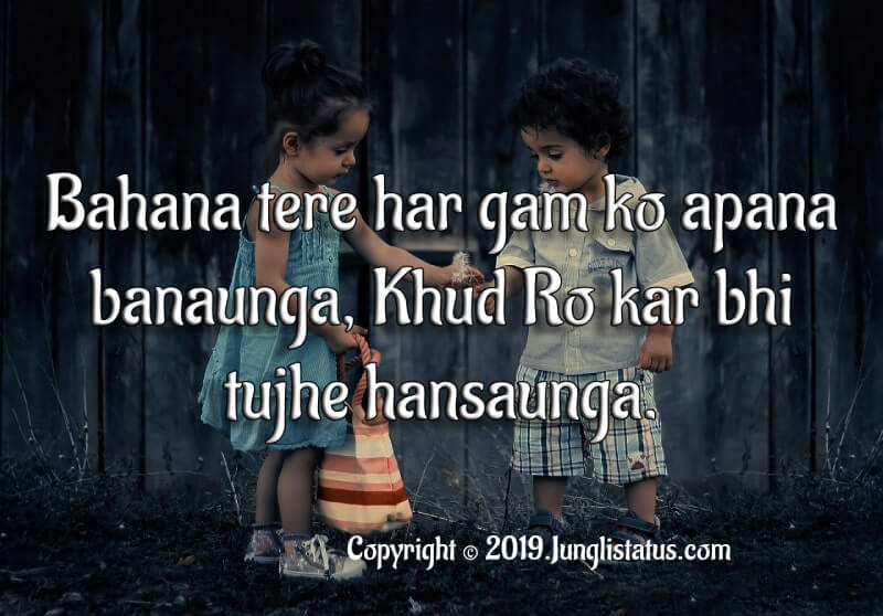 Cute Sister Quotes Status In Hindi With Images Junglistatus
